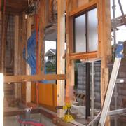 新規土台と新規柱
