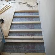 2階洋間 遮音シートと床組中