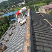耐震工事に伴う瓦屋根補強
