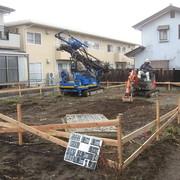 NO.1 O様邸基礎補強のため土壌改良工事が始まりました。