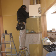 M様邸 キッチンの造作工事NO、2