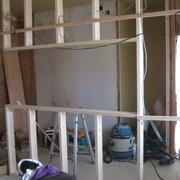 M様邸 解体工事が終わりキッチンの造作工事NO、1